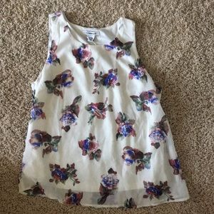 NWT Glamorous Floral Tank Too Size M